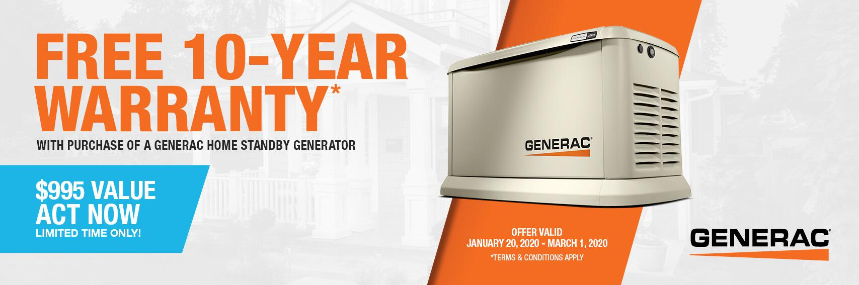 Homestandby Generator Deal | Warranty Offer | Generac Dealer | Shelley, ID